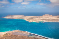 View of the part of Graciosa Island from Mirador del Rio, Lanzar Stock Image