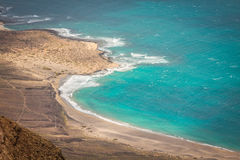 View of the part of Graciosa Island from Mirador del Rio, Lanzar Stock Images