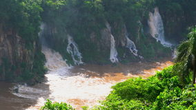 View of a part of Iguazu falls in Brazil side stock video footage
