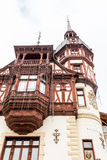 View of a part of Peles Castle from Sinaia, Romania Royalty Free Stock Photo
