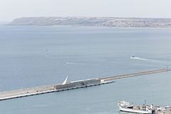 View of a part of the port of Alicante in Spain. Stock Photo