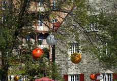 View of part of Quebec City in fall Royalty Free Stock Photography