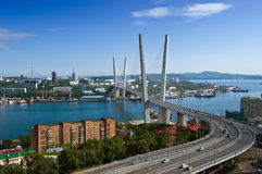 View of part of Vladivostok. Russia. 13.06.2015 Royalty Free Stock Image