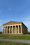 View of the Parthenon in Narshville. View of replica of Parthenon in Centennial Park in Nashville, Tennessee during late afternoon Royalty Free Stock Photography