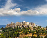 View of Parthenon temple on Athenian Acropolis, Athens Stock Images