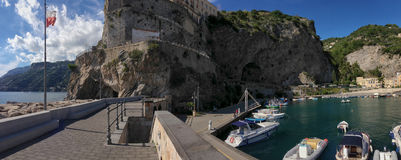 View particular port  Maiori village. From Amalfi coast, Italy Stock Image