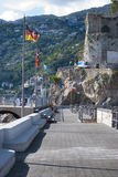 View particular port  Maiori village. From Amalfi coast, Italy Royalty Free Stock Images