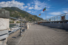 View particular port  Maiori village. From Amalfi coast, Italy Stock Photography