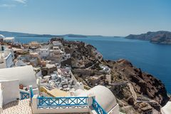 View at parts of Oia royalty free stock image