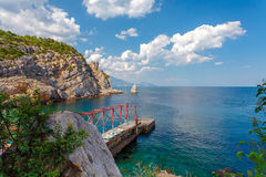 View of Parus, Sail, Rock and beach Royalty Free Stock Image