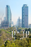 View of Paseo de la Reforma in Mexico City. From Chapultepec Castle Stock Photo