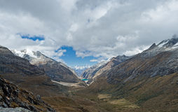 View from Paso Punta Union on 4750m Stock Photos