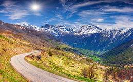 View from the pass Col de Vars. Stock Photo