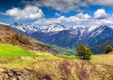 View from the pass Col de Vars. Royalty Free Stock Images
