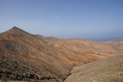 View from the pass summit of La Tablada Royalty Free Stock Photography