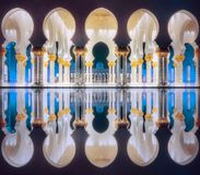Passage of Sheikh Zayed Grand Mosque Abu-Dhabi Royalty Free Stock Photography