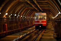 View on the passenger car that crosses the ''Tunnel'', Istanbul, Turkey Stock Image