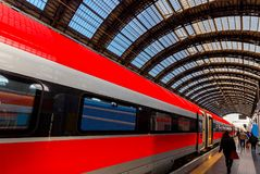 Milan. Central railway station. Royalty Free Stock Photos