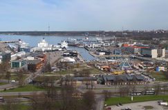 View of the passenger port day in april. Tallinn Stock Image