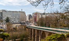 View of Passerelle viaduct in Luxembourg Royalty Free Stock Photos