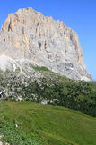 View from the Passo di Sella, Italian Dolomites Royalty Free Stock Photography