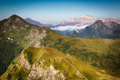 View from Passo Giau, Dolomites, Italian Alps Stock Image