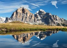 View from passo Giau, Tofana or Le Tofane Gruppe Royalty Free Stock Image