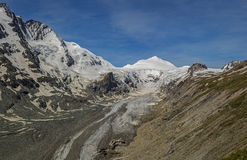 View of the Pasterze glacier and the Grossglockner Royalty Free Stock Photo