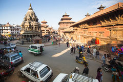 View of the Patan Durbar Square Royalty Free Stock Images