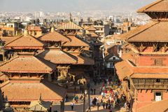 View of the Patan Durbar Square, in Kathmandu, Nepal. Royalty Free Stock Photo