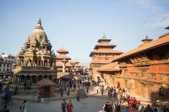 View of the Patan Durbar Square,  in Kathmandu, Nepal. Royalty Free Stock Photography