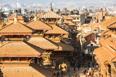 View of the Patan Durbar Square, Nepal. Stock Image
