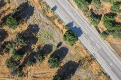 Road Viewed from Up Above Royalty Free Stock Photo