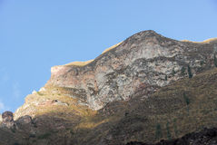 View of path between Cusco and Machu Picchu, Peru Stock Photo