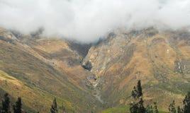 View of path between Cusco and Machu Picchu, Peru Stock Photography