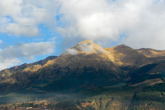 View of path between Cusco and Machu Picchu, Peru Royalty Free Stock Images