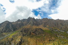 View of path between Cusco and Machu Picchu, Peru Royalty Free Stock Image