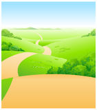 The view of Path over green Royalty Free Stock Images