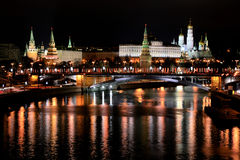 View from Patriarshy Bridge, Moscow, Russia Stock Photo