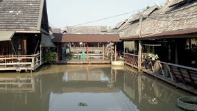View of Pattaya Floating market. Thailand stock video footage