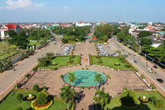 View from Patuxai Stock Image
