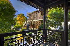 View from the Pavilion at Chinese Garden Royalty Free Stock Images