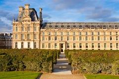 View of Pavillon de Marsan from Tuileries garden Stock Photos