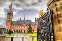 View of the Peace Palaceis, administrative building the International Court of Justice in The Hague