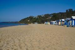 View of peaceful beach in Australia stock photos