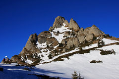 View of a peak in Ciucas mountains, Romania Royalty Free Stock Photography