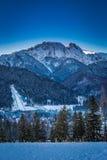 View of the peak Giewont at dawn in Zakopane, Tatra Mountains Stock Photography