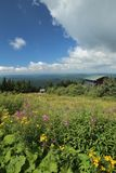View from the peak of Klinovec in the Ore Mountains Stock Photography