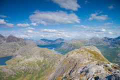 View from a peak in Northern Norway Stock Images