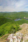 View from peak Sivec, Slovakia near Kosice Stock Photo